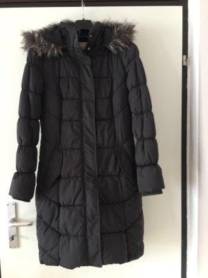 Orsay Pikowany płaszcz ciemnoszary Poliester