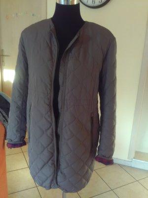 HM Quilted Coat dark grey