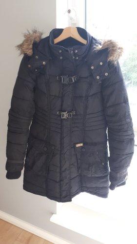 Khujo Abrigo acolchado negro