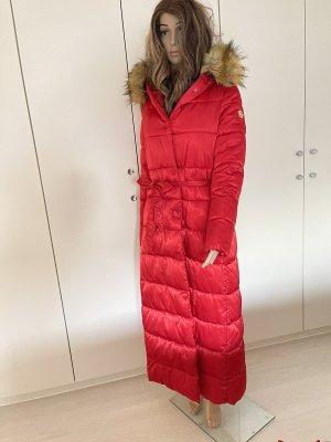 Jayloucy Abrigo acolchado rojo-rojo ladrillo