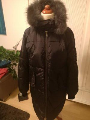 Made in Italy Abrigo acolchado negro-gris oscuro