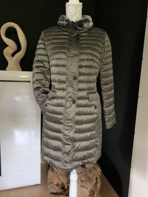 Alba Moda Quilted Coat grey brown polyamide