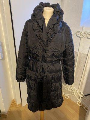 H&M Pikowany płaszcz czarny
