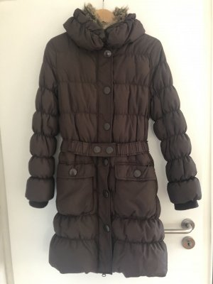 B.young Quilted Coat dark brown