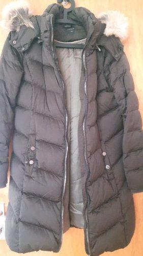 Comma Pikowany płaszcz taupe-szaro-brązowy