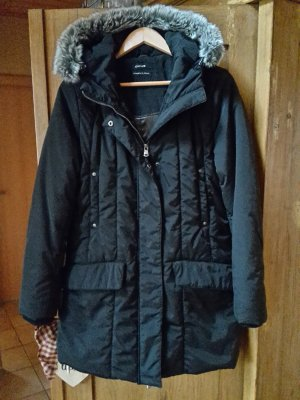 Opus Quilted Coat black polyester