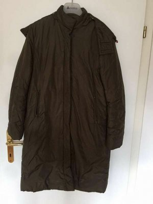 Stefanel Quilted Coat olive green polyacrylic