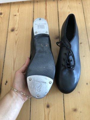 Oxfordy czarny-srebrny
