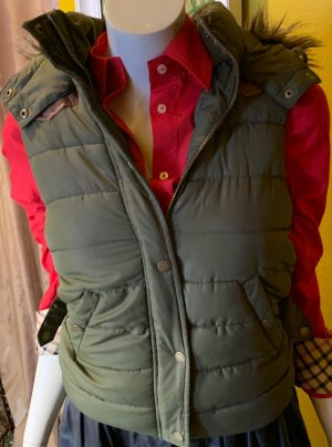 H&M L.O.G.G. Quilted Gilet brown-khaki