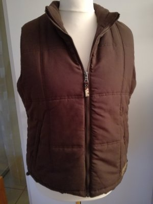 Quilted Gilet dark brown polyester