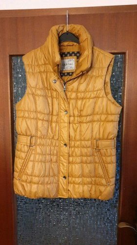 Canda Quilted Gilet gold-colored