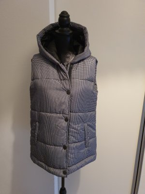 Quilted Gilet white-black