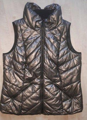 Bonita Quilted Gilet bronze-colored-grey brown