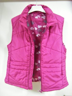 Quilted Gilet raspberry-red-magenta polyester
