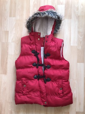 Atmosphere Quilted Gilet red-natural white