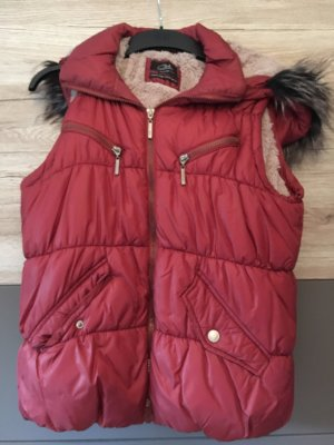 Clockhouse Down Vest brown red