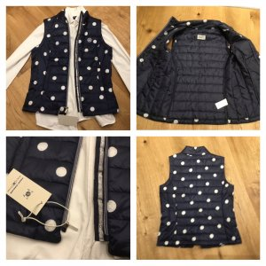 Tom Tailor Quilted Gilet white-dark blue mixture fibre