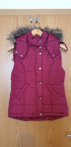 FlashLights Quilted Gilet bordeaux