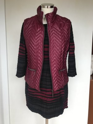 Monari Quilted Gilet carmine polyester