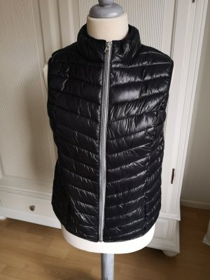 Quilted Gilet black-silver-colored