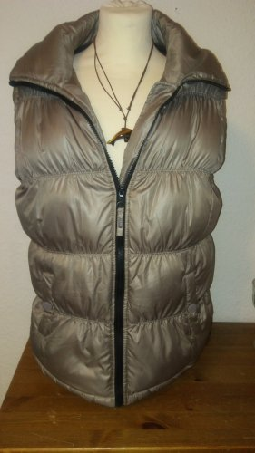 emoji Quilted Gilet grey brown mixture fibre