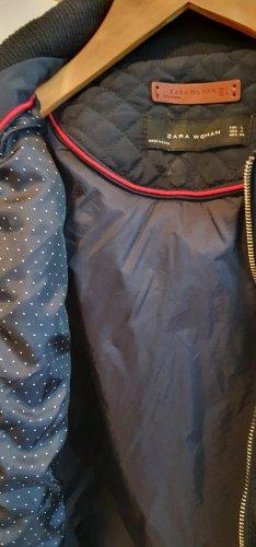 Zara Woman Gilet matelassé bleu foncé
