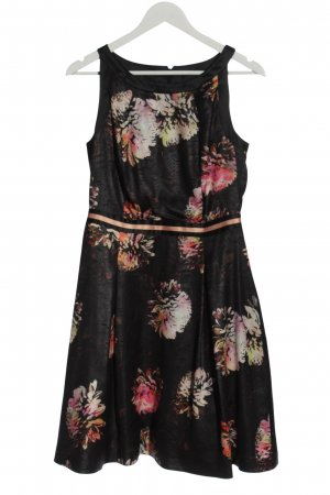 Steps A-Linien Kleid schwarz Blumenmuster Elegant