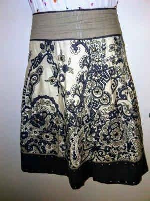 Steps Asymmetry Skirt multicolored mixture fibre