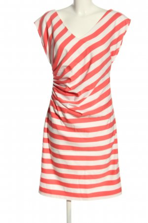 Steps Kurzarmkleid rot-weiß Streifenmuster Casual-Look