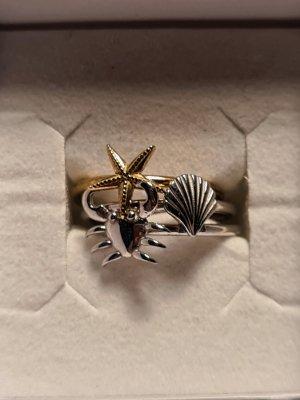 Pandora Złoty pierścionek srebrny-złoto