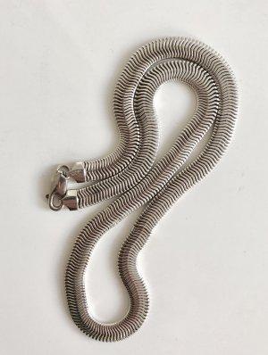 Sterling 925 Silber Kette Vintage Modernist Schlange zigzag Silberkette COOLE 70ER!