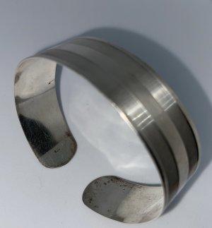 925er Silber Bracciale grigio chiaro Tessuto misto