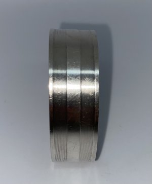 925er Silber Braccialetto in argento grigio chiaro Tessuto misto