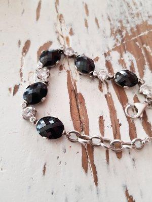 Swarovski Silver Bracelet black-silver-colored