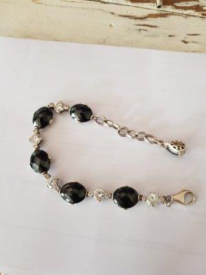 Swarovski Bracelet en argent noir-argenté