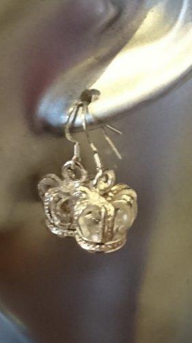 Sterlingsilber  Ohrringe Ohrhacken  mit Krone Anhänger