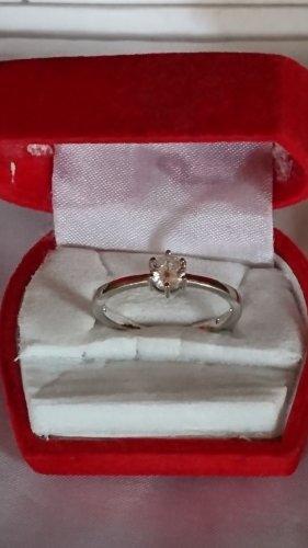 Sterlingsilber Ring aus 925  mit Zirkonia Steinchen Gr.19