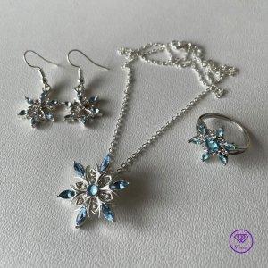 Jewellery Set white-neon blue