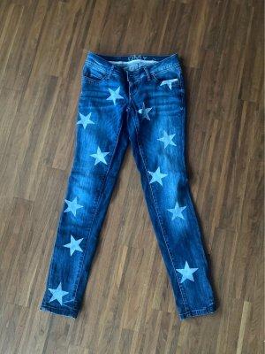 Stern Print Jeans