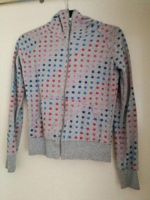 Sternchen Sweater mit Kapuze