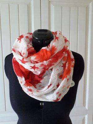 Ohne Bufanda tubo blanco puro-rojo ladrillo