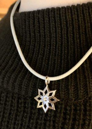 Sternen Anhänger in Rhodium mit Stein