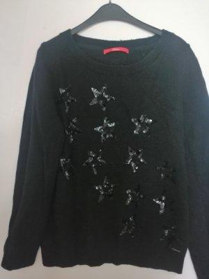 Sternen Pailletten Pullover