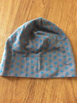 n.d.c. made by hand Chapeau en tissu gris foncé-turquoise