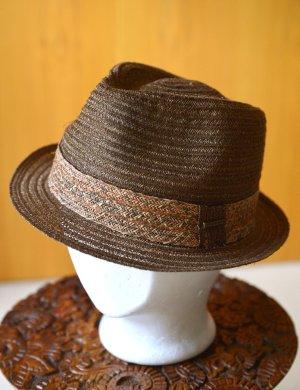 STETSON Chapeau de paille multicolore tissu mixte