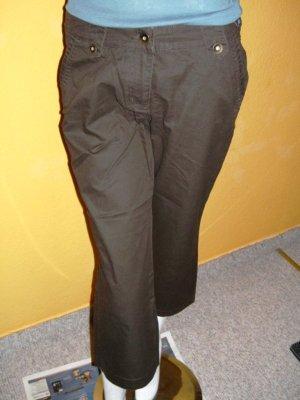 Pantalone Capri marrone-rosso Cotone