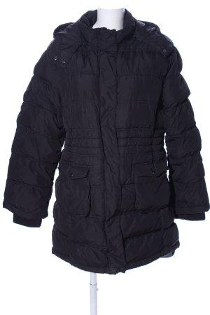 Steve Ketell Pikowany płaszcz czarny Pikowany wzór W stylu casual