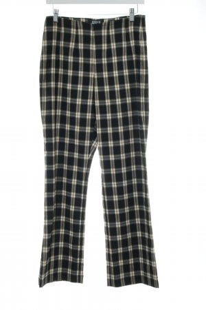 Steve Ketell Stoffhose schwarz-creme Allover-Druck Street-Fashion-Look