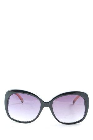 Steve Madden eckige Sonnenbrille schwarz-creme Casual-Look