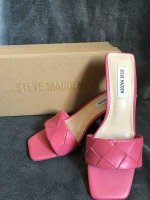 Steve Madden Sandalias de tacón con talón descubierto rosa